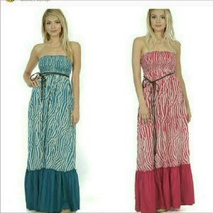 Dresses - BOUTIQUE STRAPLESS MAXI DRESS WITH OPTIONAL STRAPS
